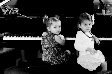 Gianna and Savannah bw